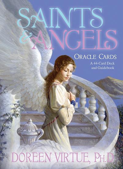 Saints & Angels Oracle ( 44 Cards + Guidebook )