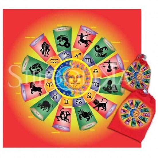 Kit Toalha + Bolsa - Mandala Astrológica Zodíaco
