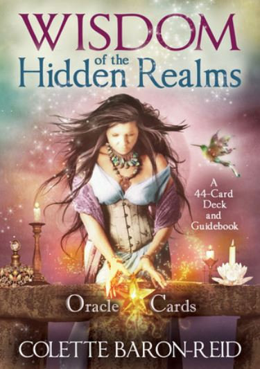 Wisdom of the Hidden realms Oracle Cards ( 44 Cartas & Guidebook )