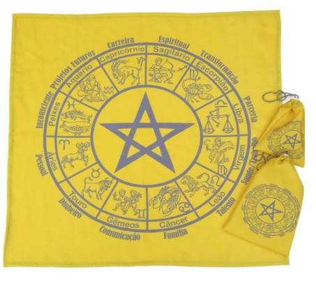 Kit Toalha + Bolsa - Mandala Astrológica Pentagrama A