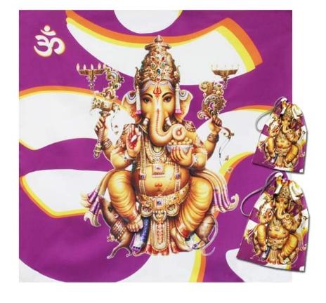 Kit Toalha + Bolsa - Ganesha