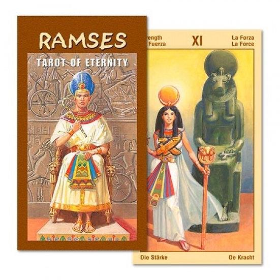 Ramses - Tarot of Eternity da Lo Scarabeo - Capa e Carta   Ramses - Tarot of E