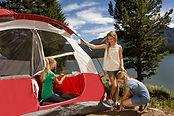 niñas camping