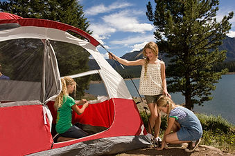 Camp Near Yellowstone National PArk