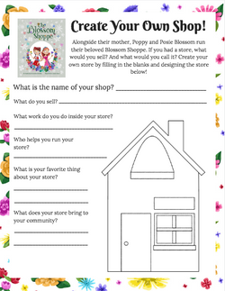 Create Your Own Shop Printable Activity - The Blossom Shoppe