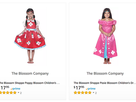 Poppy and Posie Girl's Dress-Up Costumes on Amazon!