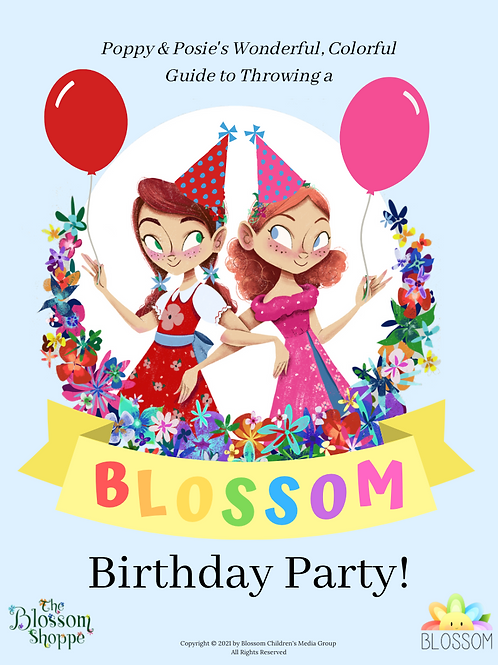 The Blossom Shoppe Birthday Party Printable Pack