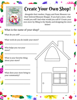 Create Your Own Shop Printable Activity for Kids