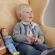 Child with Bibli Plushies