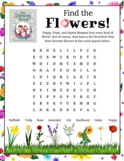 Poppy & Posie's Flower Word Search