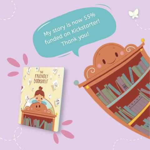 The Friendly Bookshelf is 55% Funded on Kickstarter! 🎉