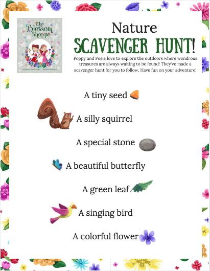Poppy & Posie's Nature Scavenger Hunt - The Blossom Shoppe