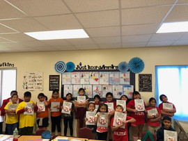 """Students from Adacao Elementary School in Guam read """"The Blososm Shoppe""""!"""