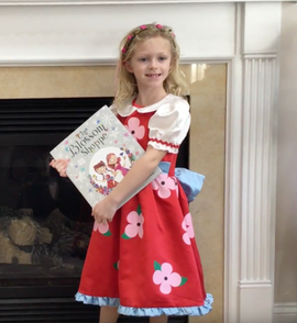 """Addie from New York with her """"The Blossom Shoppe"""" Book and Costume Bundle!"""
