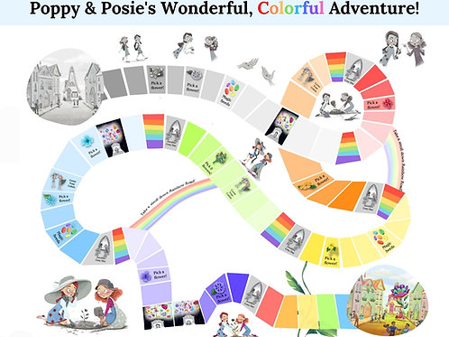 The Blossom Shoppe Printable Board Game