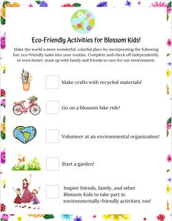 Poppy & Posie's Eco-Friendly Checklist Activity - The Blossom Shoppe