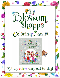 The Blossom Shoppe Coloring Packet