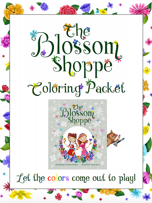 The Blossom Shoppe Coloring Packet (Downloadable File)