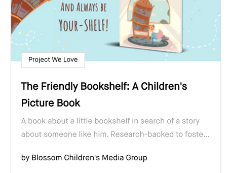 """The Friendly Bookshelf is Named a """"Project We Love"""" by Kickstarter!!!"""