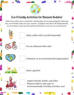 Ecofriendly Checklist Activity for Kids