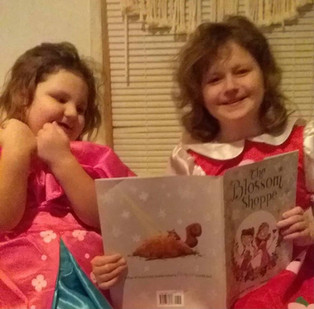 The Morris Sisters read The Blossom Shoppe!