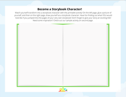 Become a Storybook Character Activity Sheet
