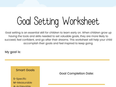 Goal Setting Strategies to Help Your Child BLOSSOM in the New Year!