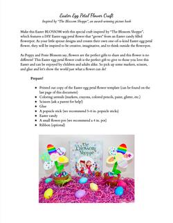 Easter Egg Flower Craft for Kids