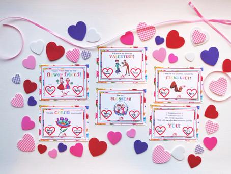 Poppy & Posie's Valentine's Day Cards: Printable Cards for Kids!