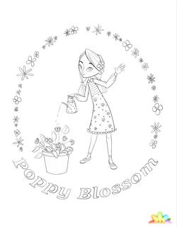 Poppy Blossom Coloring Sheet