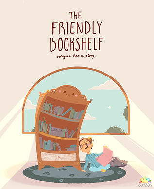 The Friendly Bookshelf Concept Art with
