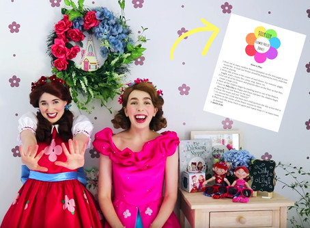 """Play """"Silly Lily Freeze Dance"""" with the Blossom Sisters! 