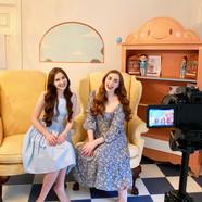 Caroline and Katherine Filming