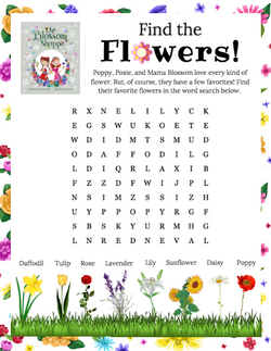 """""""The Blossom Shoppe"""" Word Search"""