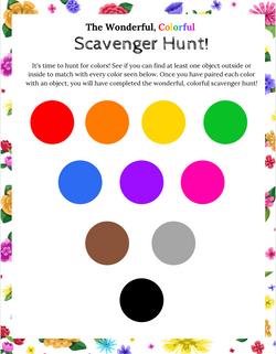 Poppy & Posie's Wonderful, Colorful Scavenger Hunt