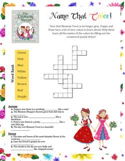 Poppy & Posie's Color Crossword