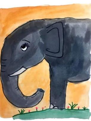 Jumbo éléphant tout mignon