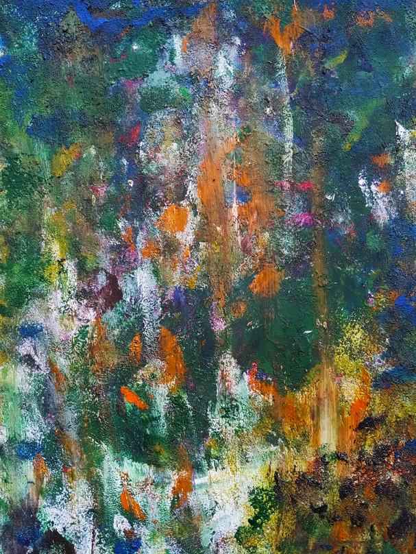 Art abstrait au doigt
