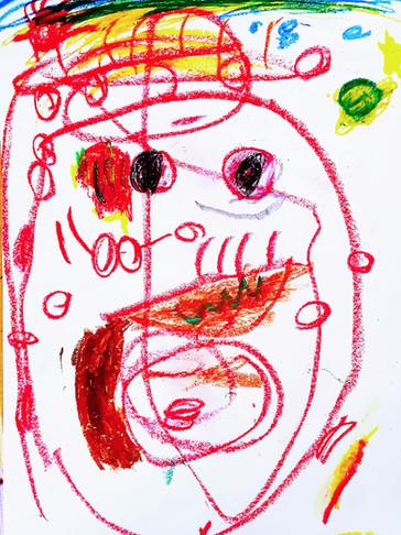 Nikolai Tol - dessiné à 2 ans