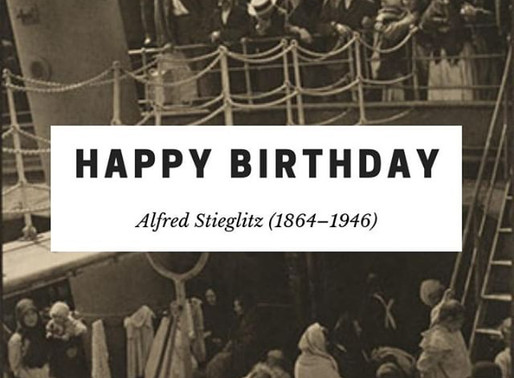 Birthday Artist: Alfred Stieglitz