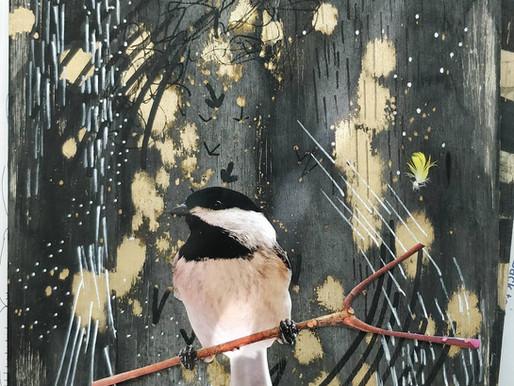 Singing Black-Capped Chickadee
