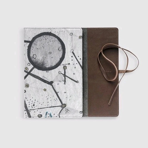 Cosmic Circles Leather Journal