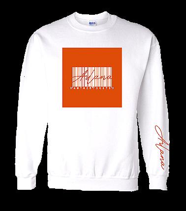 Authenticity Barcode Sweatshirt - White