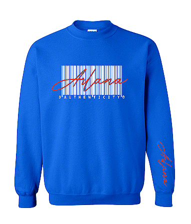 Authenticity Barcode Sweatshirt - Blue