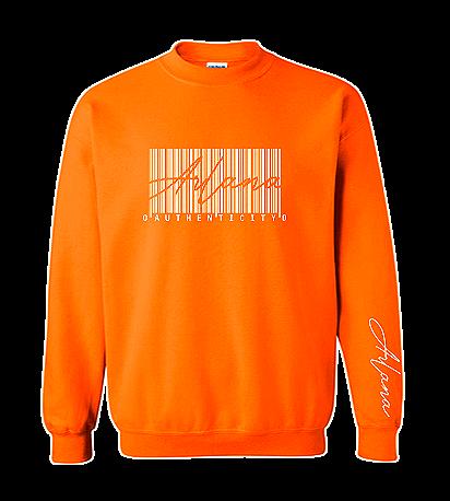 Authenticity Barcode Sweatshirt - Orange