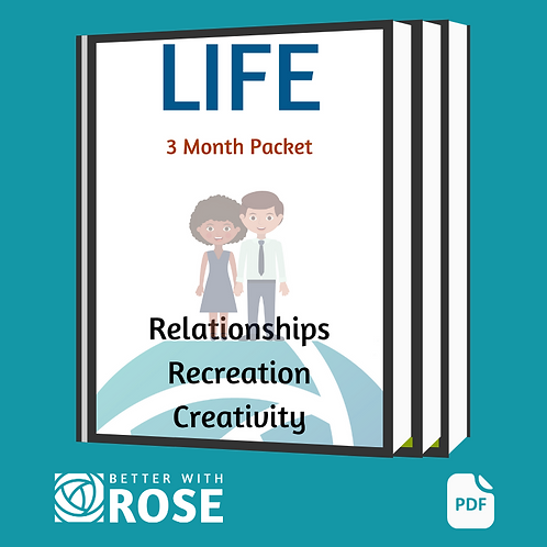 Life: 3 Month Packet - Relationships - Recreation - Creativity
