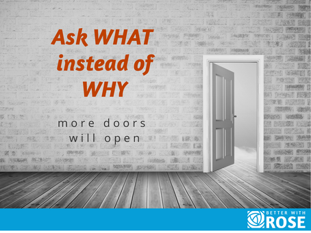 Ask What Instead of Why
