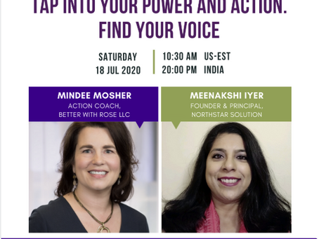 Tap Into Your Power and Action. Find Your Voice. - A Workshop