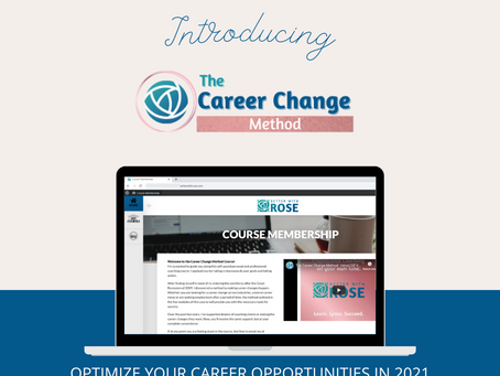 Career Change Method Online Course - Launched!