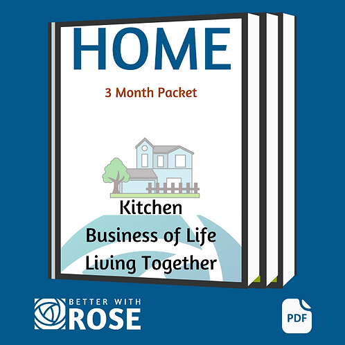 Home: 3 Month Packet - Kitchen - Business of Life - Living Together